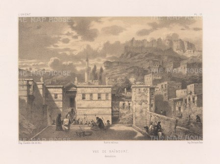 "Flandin: Bayburt, Armenia. 1842. An original antique lithograph. 11"" x 7"". [RUSp779]"
