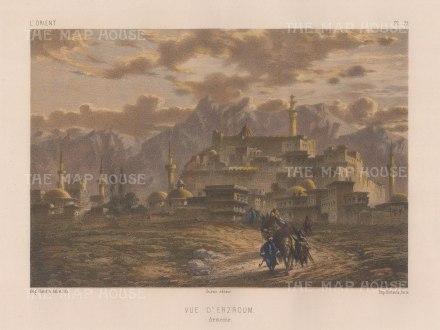 Armenia: View of Erzroum (Karin).