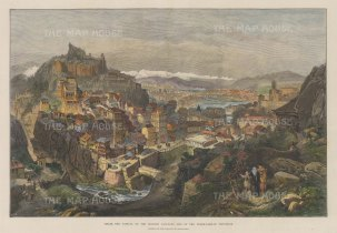 Tiflis (Tbilisi): Panoramic view of the capital on the Kura river in the South Caucasus.