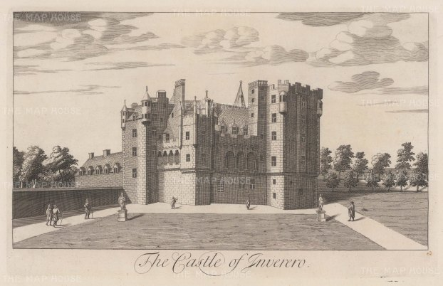 Castle of Inverero or Gordon Castle: Near Fochabers in Moray, and immortalised by Robert Burns in his poem, 'Castle Gordon'.