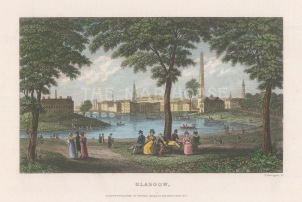 "Kelly: Glasgow. 1832. A hand coloured original antique steel engraving. 6"" x 5"". [SCOTp1698]"