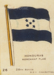 "BDV Cigarettes: Honduras. c1900. Original printed colour on silk. 2"" x 3"". [ARMp52]"