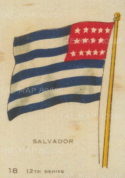 "BDV Cigarettes: Salvador. c1900. Original printed colour on silk. 2"" x 3"". [ARMp109]"