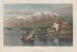 Beirut: View over the bay towards the Lebanon Mountains.