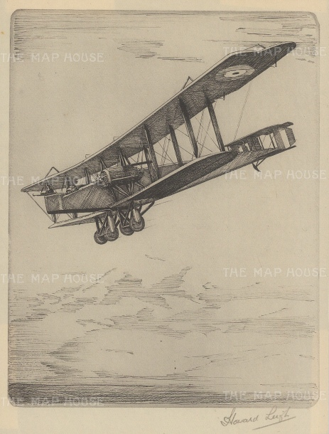 Handley Page 0/400 twin engine night bomber: Signed in pencil with text on verso.