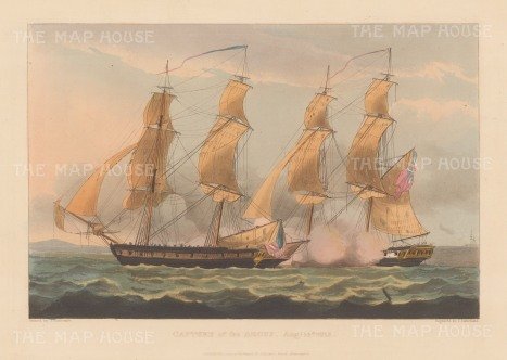 Capture of the USS Argus by HMS Pelican during the War of 1812.