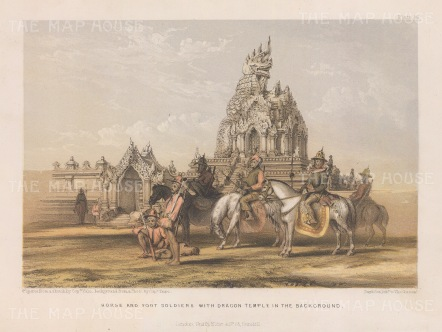 Amrapura: Dragon Temple with cavalry and infantry.