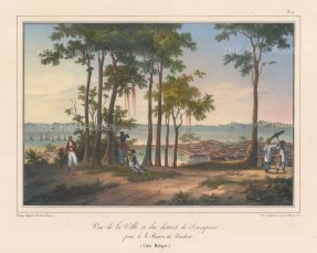 Panoramic view from Fort Canning: From Baron de Bougainville and Viscomte de la Touanne's round the world voyage on the corvette l'Esperance 1824-6.