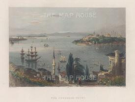 Seraglio Point (Sarayburnu): Panoramic view over the Bosphorus.