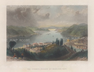 Beglier Bey (Governor's) Summer Palace: Panoramic view over the Bosphorus.