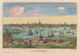 "Salmon: Antwerp. 1759. A hand-coloured original antique copper engraving. 10"" x 6"". [BELp270]"