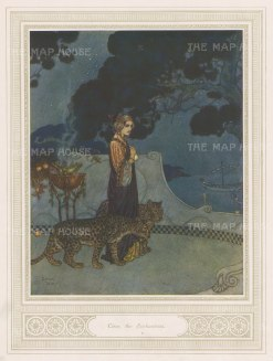 "Illustrated London News: Circe. 1912. An original antique chromolithograph. 8"" x 10"". [DECp2116]"