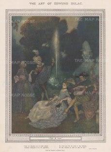 """Illustrated London News: Claire de Lune. 1918. An original antique chromolithograph. 8"""" x 12"""". [DECp2117]"""
