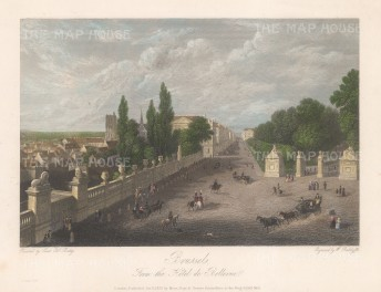 "Batty: Brussels. 1832. A hand coloured original antique steel engraving. 10"" x 7"". [BELp192]"