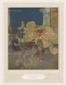 Salome: Daughter of Heroduias. After Edmund Dulac.