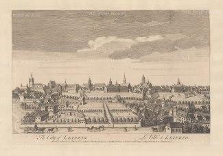 "Sayer: Leipzig. 1774. An original antique copper engraving. 18"" x 12"". [GERp1241]"