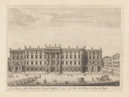 "Sayer: Potsdam. 1774. An original antique copper engraving. 18"" X 12"". [GERp1242]"