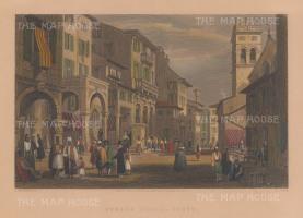 Corfu: View of the Strada Reale.