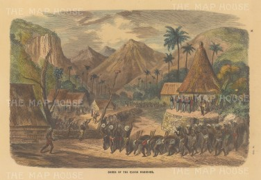 "Collins: Fiji. c1870. A hand coloured original antique wood engraving. 9"" x 6"". [PLYp258]"