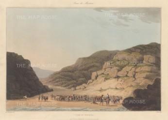 """Bradford: Maceira. 1809. An original colour antique aquatint. 13"""" x 9"""". [SPp780]"""