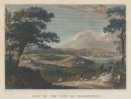 Based on an earlier turn of the century view by George Beck of the harbour from the environs of the city.