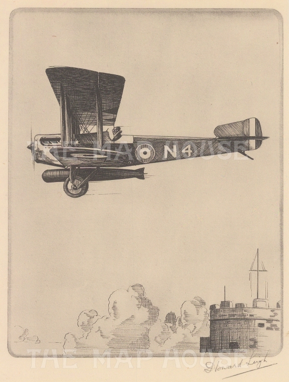 Sopwith Cuckoo single seater torpedo carrier: Signed in pencil with text on verso.