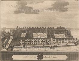 "Van der Aa: St John's College, Cambridge. 1727. An original antique copper engraving. 6"" x 5"". [CAMBSp404]"