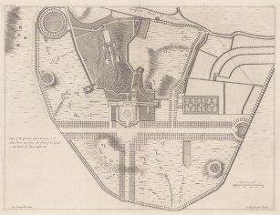 """Campbell: Clairmont Surrey. 1720. An original antique copper engraving. 20"""" x 15"""". [ENGp337]"""