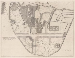 "Campbell: Clairmont Surrey. 1720. An original antique copper engraving. 20"" x 15"". [ENGp337]"
