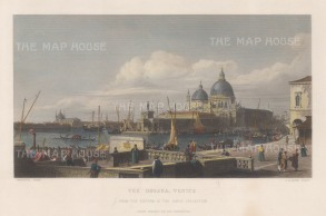 Dogano: View of the Grand Canal. After Canaletto.