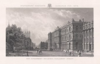 View of the Government Buildings. After John O'Conner.