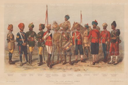 Bombay Army: 13 regiments of the Army to include Cavalry, Infantry, Lancers, Grenadiers and Sappers. After Lt Alfred Lovett.