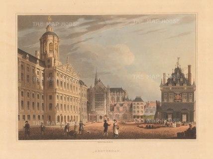 "Bowyer: Amsterdam. 1814. An original colour antique aquatint. 13"" x 9"". [NETHp175]"