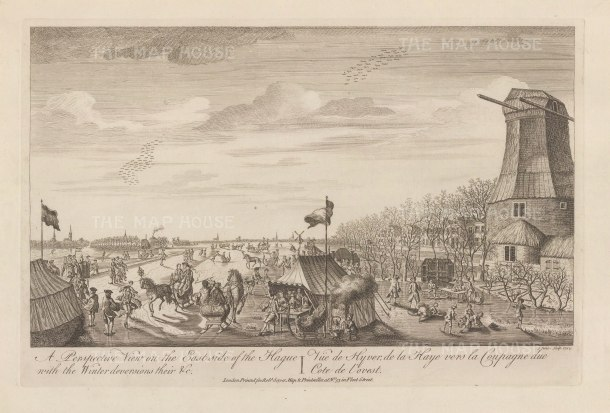 "Sayer: Hague. 1774. An original antique copper engraving. 18"" x 12"". [NETHp181]"