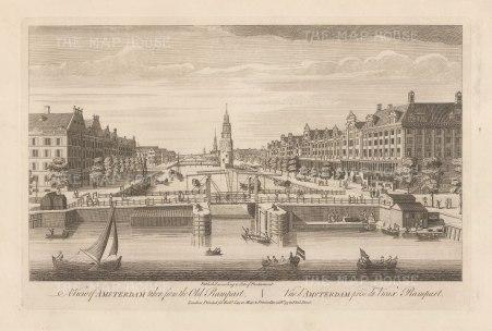"Sayer: Amsterdam. 1774. An original antique copper engraving. 18"" x 12"". [NETHp193]"