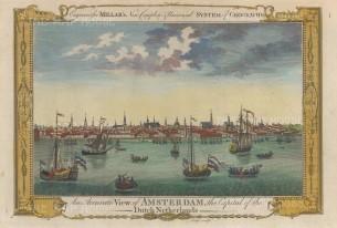 "Millar: Amsterdam. 1782. A hand coloured original antique copper engraving. 12"" x 8"". [NETHp196]"