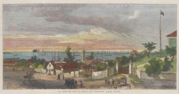 Nassau: Panoramic view of the town and port. New Providence.