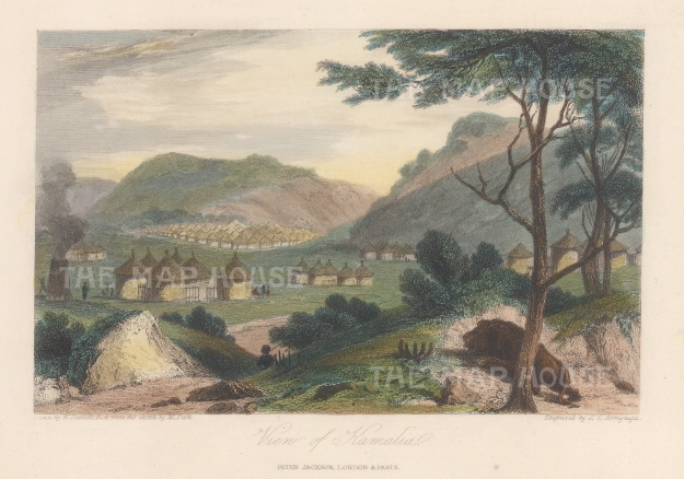 "Jackson: Kamalia, Mali. c1840. A hand coloured original antique steel engraving. 6"" x 4"". [AFRp1415]"