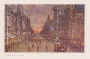 Collins Street, Melbourne. After Percy Spence.
