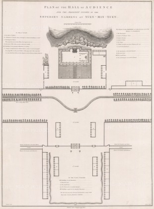 Peking: Architectural plan: the Hall of Audience and Emperor's Gardens at Yuen-Min-Yuen, or the Old Summer Palace.
