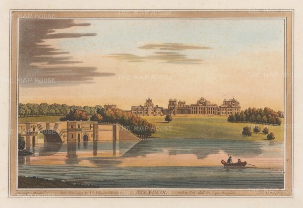 Blenheim: View of the Palace from the Thames. After Joseph Farington.
