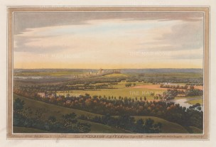 Windsor Castle: Panoramic view from Coopers Hill. After Joseph Farington.