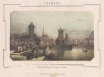 "Pagnoni: Strausburg. c1850. An original colour antique lithograph. 9"" x 6"". [GERp1261]"
