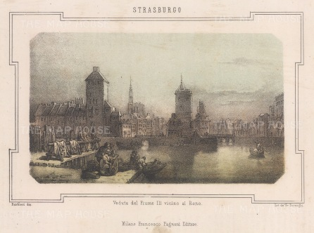 "Pagnoni: Strausburg. c1850. An original colour antique lithograph. 9"" x 6"". [GERp1261]"