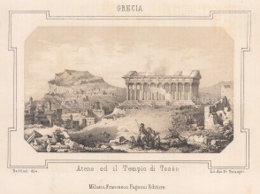 Temple of Hephaestus: Panoramic view of Athens and the temple.