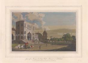 "Daniell: Pilibhit. 1813. A hand coloured original antique aquatint. 9"" x 7"". [INDp1502]"