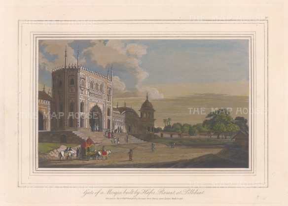 Pilibhit: View of the gate to the Jama Masjid Mosque built by Hafiz Ramat Khan.