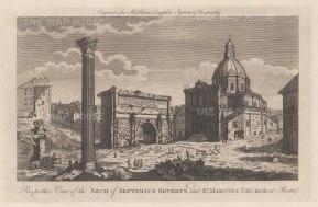 "Middleton: San Martino, Rome. 1778. An original antique copper engraving. 12"" x 7"". [ITp2264]"