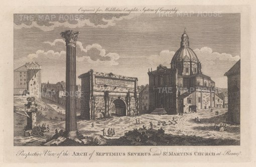 "Middleton: Rome. 1778. An original antique copper engraving. 12"" x 7"". [ITp2264]"