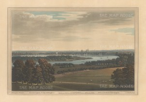 Chelsea: View of Chelsea and part of Battersea from a position southwest of Wimbledon. After Joseph Farington.